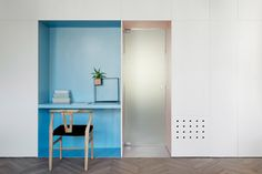 Spotted Umbra Cubist shelf in the stunning 55 metre Tel Aviv apartment by Maayan Zusman and Amir Navon