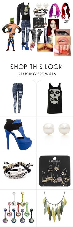 """""""A hardy and the Masked Man(Sin Cara(Hunico) Love Story)"""" by anaeve ❤ liked on Polyvore featuring Iron Fist, Qupid, Illamasqua, Etude House, Tiffany & Co., Robert Lee Morris, Topshop and Narciso Rodriguez"""