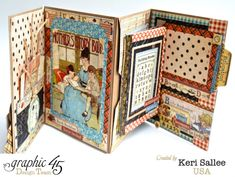 The amazing pages, pockets, and folders in Keri's An ABC Primer notebook album #graphic45