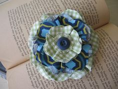 Blooming Fabric Flower pin! | Blue Cricket Design