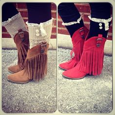 Fringe Boots and Boot Socks