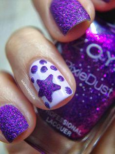 PURPLE STAR #nail #nails #nailart