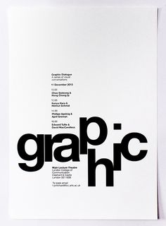 Poster: Graphic Dialogue - Chloe Morris Design                              …