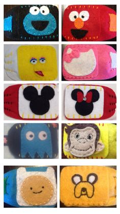 Cute character custom eye patch for kids by KristenDSimons on Etsy