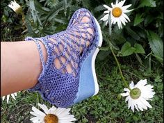 ZAPATO TEJIDO EN CROCHET - MODELO SALOMON - YouTube