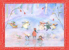 Set of 5 Sleeping Fairy Cards in Periwinkles by Periwinklesky