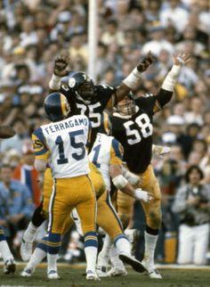 Mean Joe Greene and Jack Lambert; Super Bowl XIV