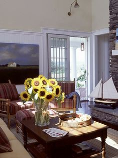 Living room ideas on pinterest nautical living rooms for All in the family living room
