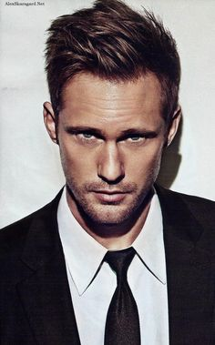 Harsh lighting...    Alexander Skarsgard - Men's Health Magazine Portrait Oct '12