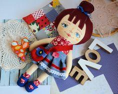 Lala Ola ( 42 cm ) zestaw ubranek plus poduszka 4th Of July Wreath, Stuffed Toy, Dolls, Christmas Ornaments, Holiday Decor, Handmade, Home Decor, Baby Dolls, Hand Made