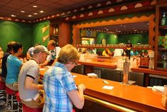 The Simpsons-themed Springfield dining options (Fast Food Boulevard) at Universal Orlando