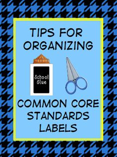 Teach123 - tips for teaching elementary school: Organizing Your Common Core Standard Labels