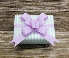Pastel Stripe Gift Wrap - Mint Green and White