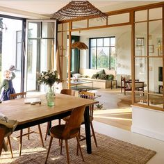 Home Office, Space Dividers, Window Grill, Loft, Decoration, Living Spaces, Sweet Home, Dining Table, Windows