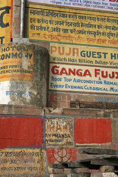 Ganga Fuji, Varanasi India, by Tracy Sparkes