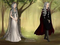 manon blackbeak in her wedding day and in a regular day