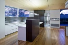Contemporary House with Completely Stainless Steel Kitchen | DigsDigs