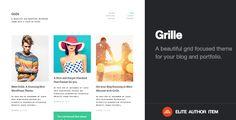 Grille | Retina Responsive Portfolio & Blog Theme  -