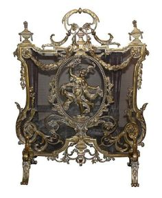 Century French bronze fire screen, featuring lots of gorgeous ornate detail in the Art Nouveau style with a whimsical dancing lady. Royal Furniture, Furniture Dolly, Furniture Logo, Ikea Furniture, Antique Furniture, Gothic Furniture, Furniture Market, Furniture Removal, French Furniture