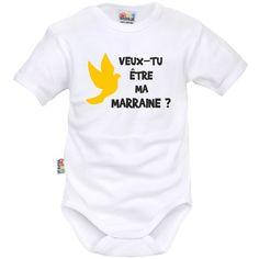 44fb978713ecc Body bébé original   veux-tu être MA MARRAINE   Body Bébé Original