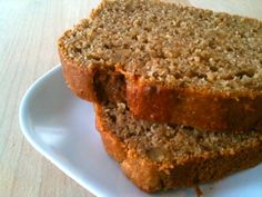 Wholewheat banana applesauce bread/muffins. I've seriously been making these every week. Delicious.