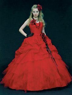 Wedding Dress Fantasy - Red Wedding Dress 9, $769.00 (http://www.weddingdressfantasy.com/red-wedding-dress-9/)