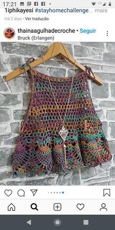Crochet Tank Tops, Crochet Tunic, Crochet Clothes, Crochet Bikini, Knit Crochet, Pull Crochet, Crochet Girls, Mode Boho, Crochet Designs