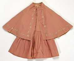 Child's wool dress (with matching embroidered cape), Scottish, ca. 1858.