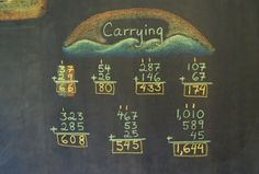 Carrying on a blackboard at the Great Barrington Rudolf Steiner School Fourth Grade Math, Second Grade Math, Waldorf Education, Classical Education, Waldorf Math, School Chalkboard, Math About Me, Rudolf Steiner, History Medieval