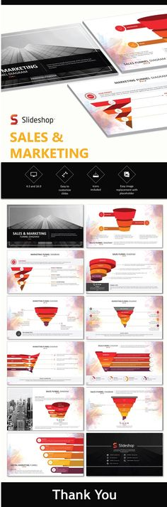 Buy Sales and Marketing Funnels by Slideshop on GraphicRiver. A highly editable presentation template. Presentation format in .pptx Users will received two presentation file sizes. Creative Powerpoint Presentations, Professional Powerpoint Templates, Business Powerpoint Templates, Powerpoint Presentation Templates, Powerpoint Designs, Ppt Template, Digital Marketing Strategy, Sales And Marketing, Marketing Strategies