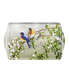 Love this Rectangular Vintage Blue Birds Serving Tray on #zulily! #zulilyfinds