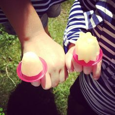Homemade organic ring pop Popsicles!