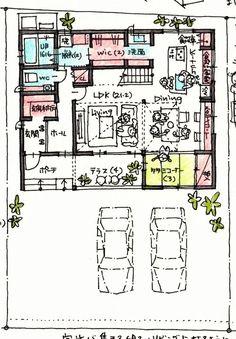 Showpieces For Home Decoration Japan House Design, Small House Design, Floor Plan Sketch, Craftsman Floor Plans, Loft Plan, Bookshelves Kids, Japanese House, Dream House Plans, House Layouts