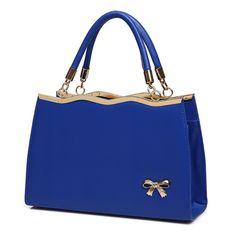 b1644e4d56 2015 High Quality Fashion Designer PU Leather Bow Decoration Women Shoulder  Handbags Crossbody Totes Desigual Handbag