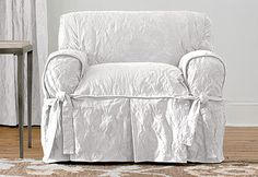 Sure Fit Slipcovers Matelasse Damask One Piece Slipcovers - Chair
