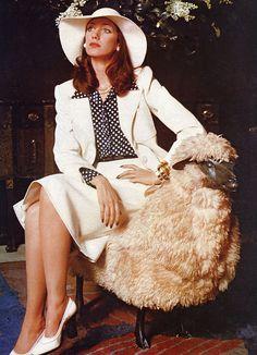 Marisa Berenson in Yves Saint Laurent, 1970s.