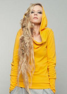 Kapuzenpulli, Hoodie in Sonnengelb / hoodie in sun yellow made by blütezeit berlin via DaWanda.com