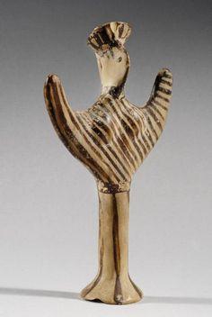 "Mycenaean ""Psi | Idols    Date:  1600 BC - 1200 BC Culture:  Early Greek Category:  Idols Medium:  Terracotta"