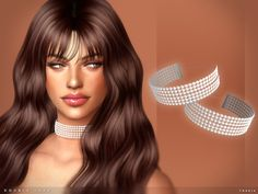 The Sims Resource: Double Luxe Choker by toksik • Sims 4 Downloads