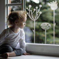 Namrzlá stébla - samolepka na okno