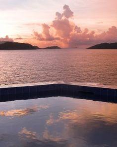 Villa Cap au Vent  ( St Barts )  The zigzagging pool appears to empty into the sea below. #Jetsetter #JSIslandTime