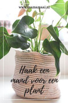 Crocheting a basket for a plant - Mama Maai - basket hooks, zpagetti, plant pot hooks - Crochet Home, Knit Crochet, Budapest Nightlife, Seed Starting, Crochet Patterns, Reusable Tote Bags, Knitting, Pot Hooks, Plants