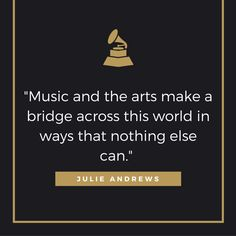 Julie Andrews on the far-reaching impact of the arts.