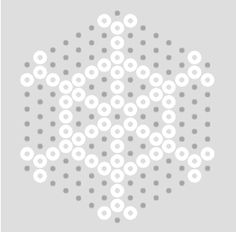 A collection of traditional Hama Bead Snowflake patterns using white Perler Bead Designs, Perler Bead Templates, Hama Beads Design, Hama Beads Patterns, Beading Patterns, Snowflake Designs, Snowflake Pattern, Beaded Snowflake, Pixel Art Noel