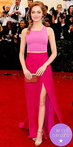 The Best Dressed Stars at the Met Gala 2014 - Emma stone