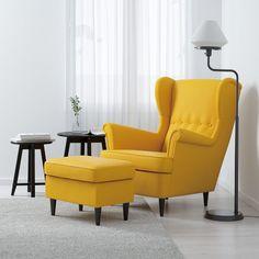 STRANDMON Kreslo, Skiftebo žltá - IKEA