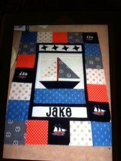nautical cot quilt