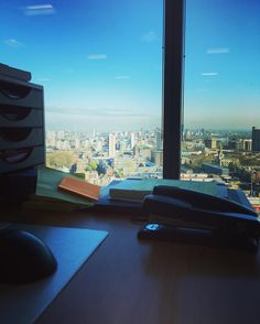 Morning view from my new desk #london #eastlondon #olympicpark #canarywharf by d_walsh85