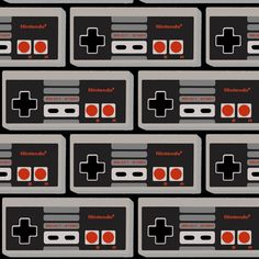 NES Controller Bricks fabric by retropopsugar on Spoonflower - custom fabric