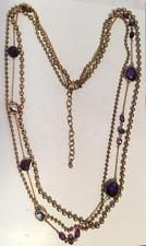 Gold plated satin finish round beads and iolite color faceted flat be... Lot 246